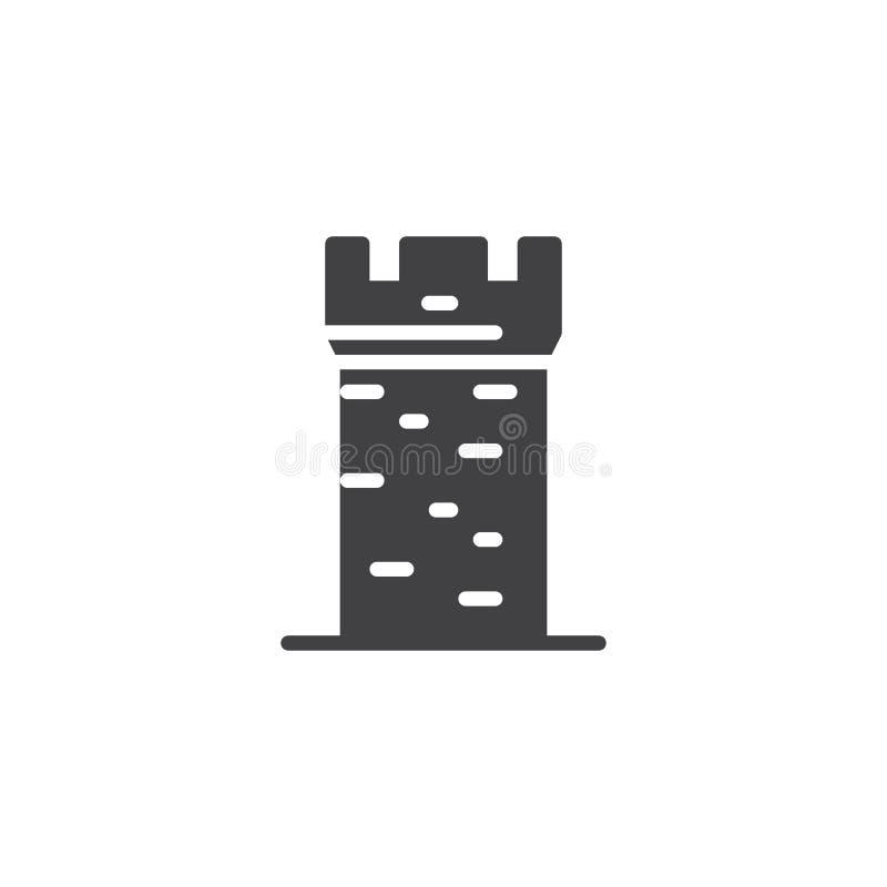 Icono del vector de la torre del castillo libre illustration