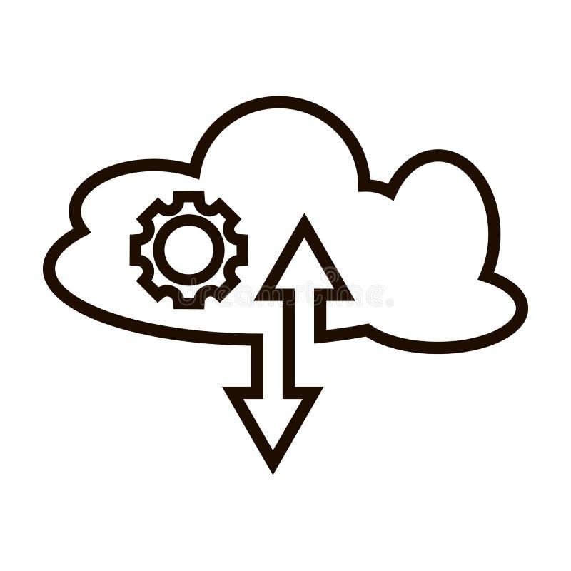 Icono del vector de la transferencia directa de la carga por teletratamiento stock de ilustración