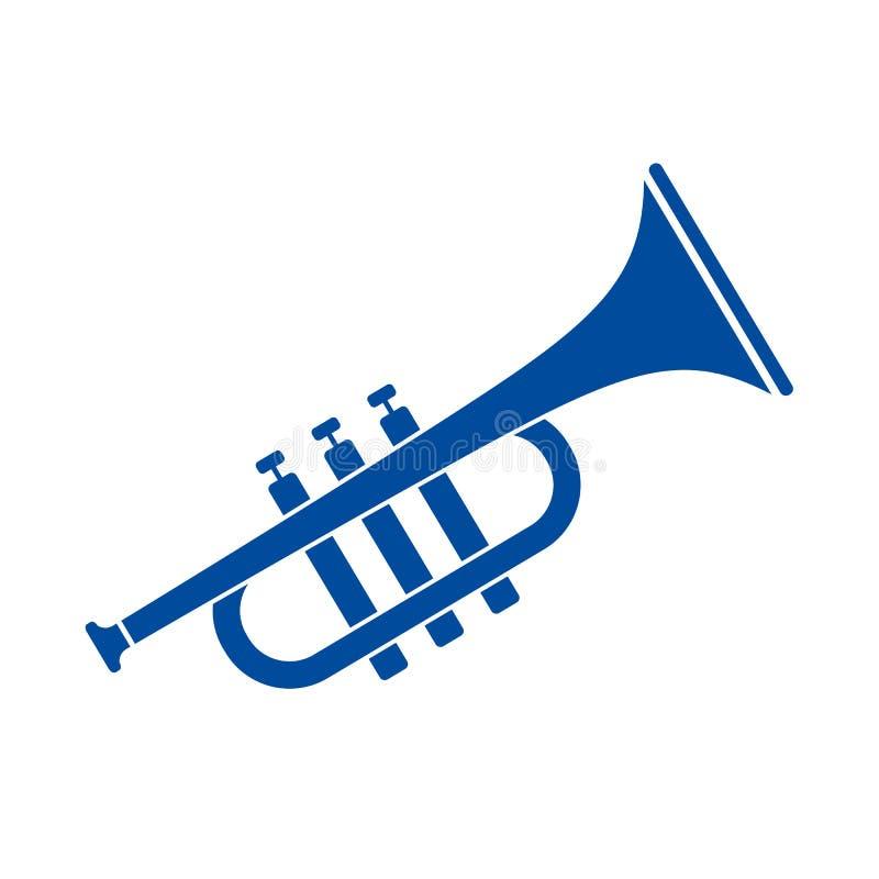 Icono del vector de la trompeta del cuerno ilustración del vector