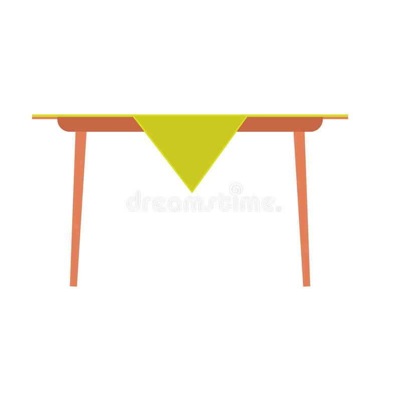 Icono del vector de la vista lateral de la tabla de cena Hogar de la celebraci?n del almuerzo de la familia del ejemplo de la com ilustración del vector