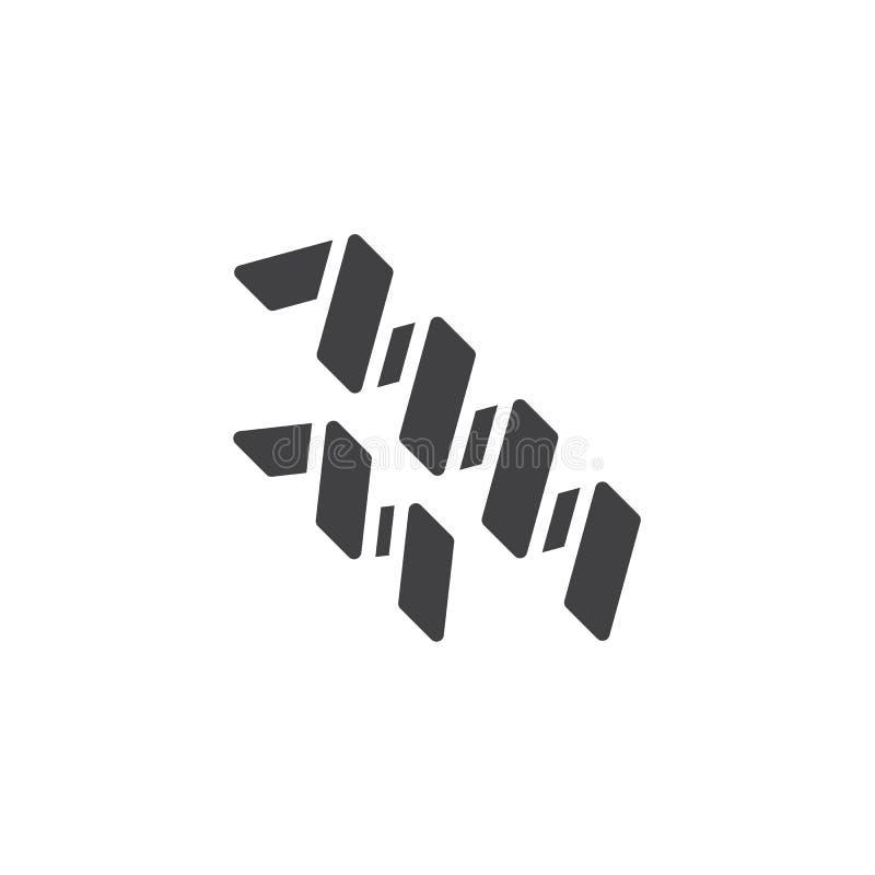 Icono del vector de las bacterias de Spirilla libre illustration