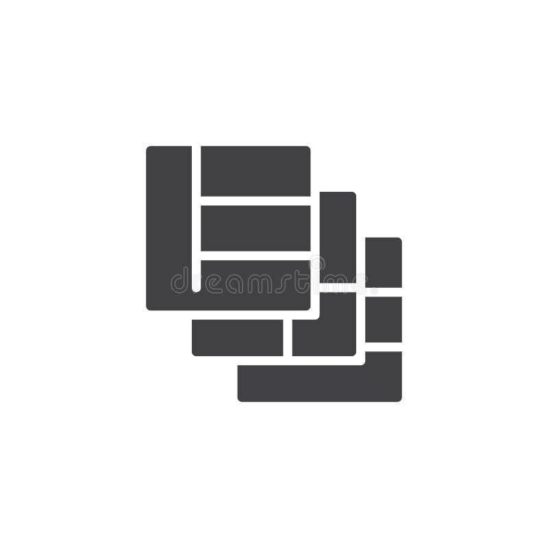 Icono del vector de las capas de las rejillas ilustración del vector