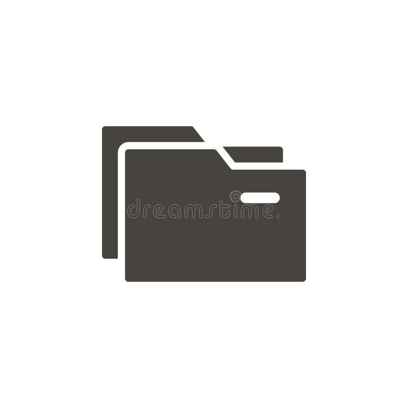 Icono del vector de las carpetas Icono simple del vector de los illustrationFolders del elemento Ejemplo material del vector del  libre illustration