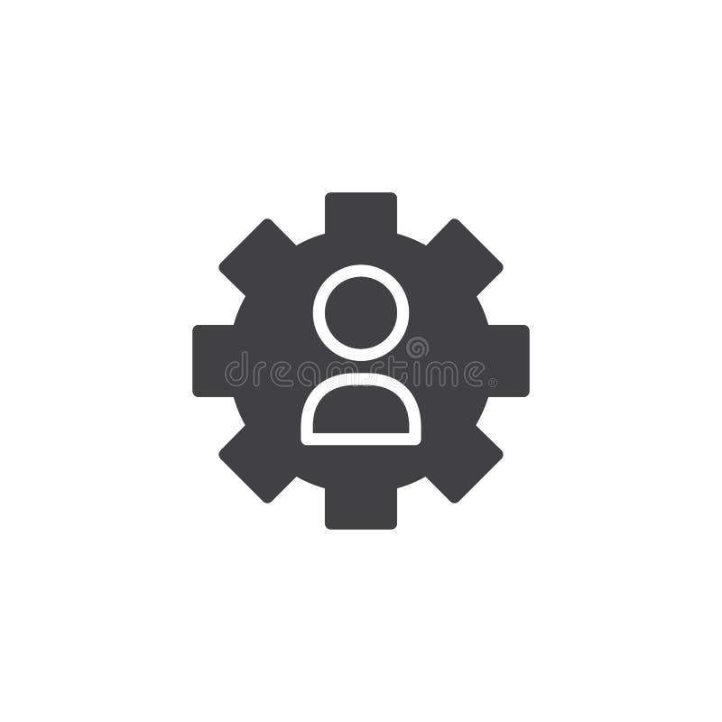 Icono del vector de las configuraciones del usuario ilustración del vector