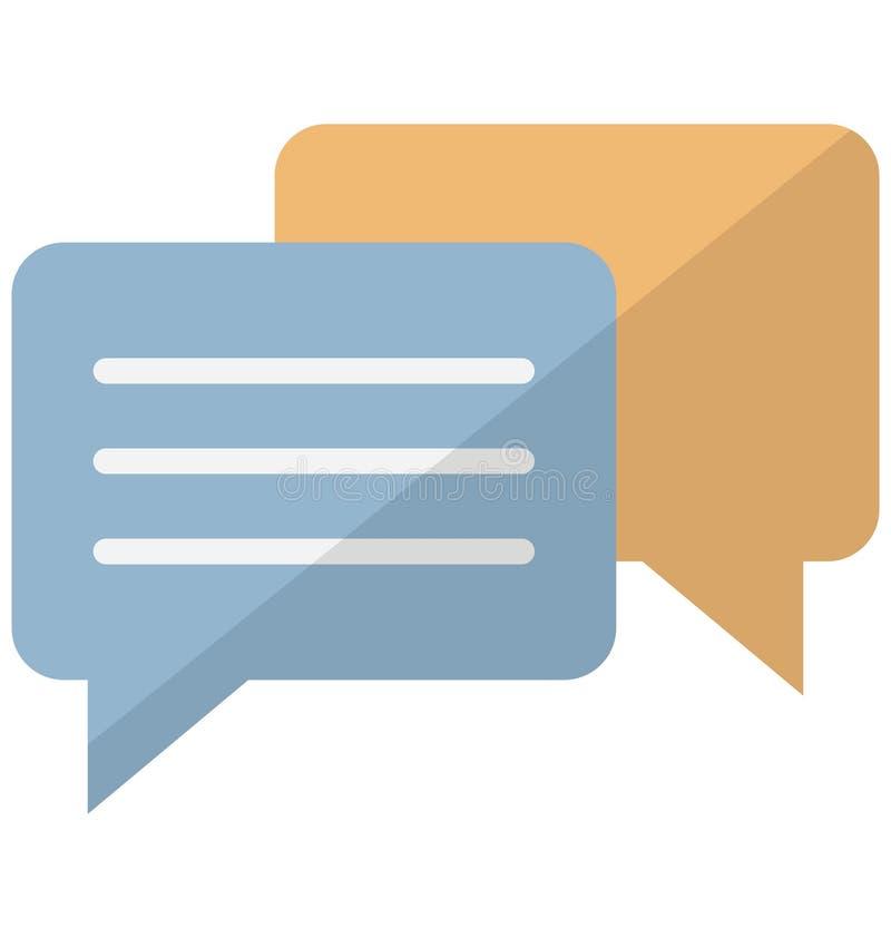 Icono del vector de las discusiones del negocio que puede modificarse o corregir fácilmente ilustración del vector