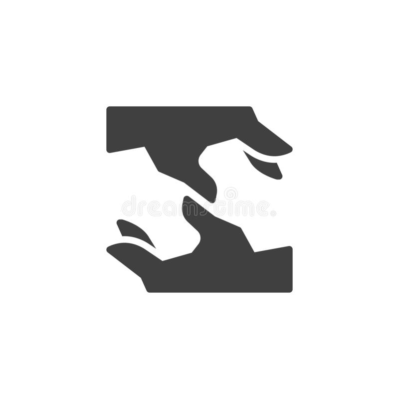 Icono del vector de las manos del compromiso ilustración del vector