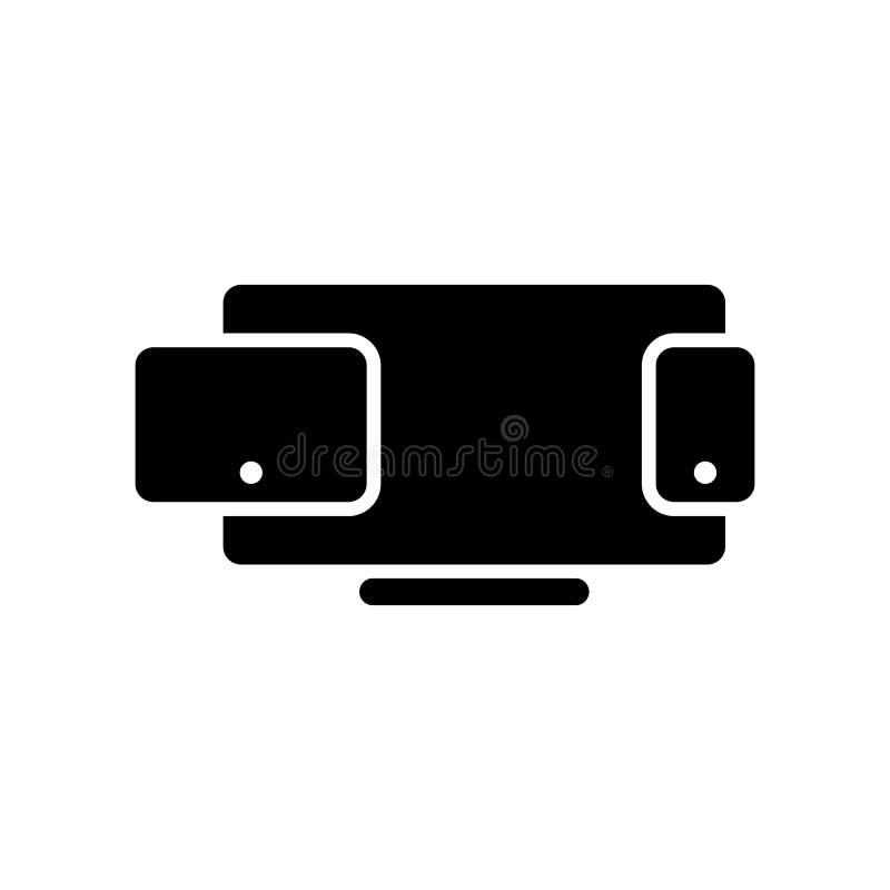 Icono del vector de las multimedias Ejemplo aislado para el gráfico y nosotros ilustración del vector