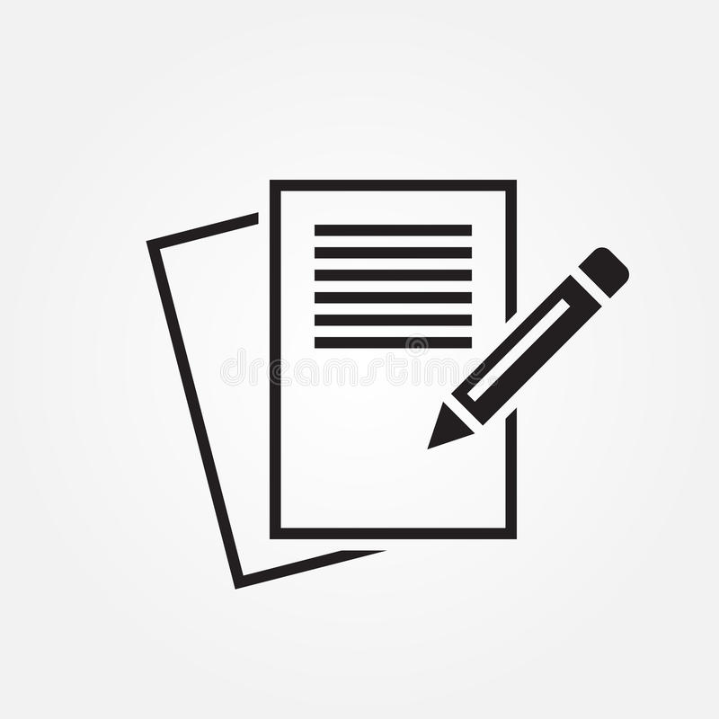 icono del vector de las notas aislado en el fondo blanco stock de ilustración