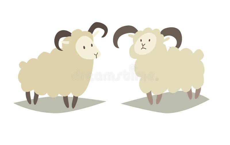 Icono del vector de las ovejas stock de ilustración