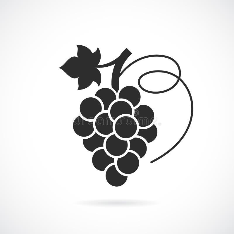 Icono del vector de las uvas stock de ilustración