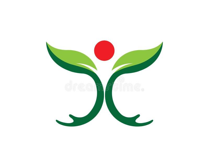 Icono del vector de Logo Template del cuidado de la mano libre illustration