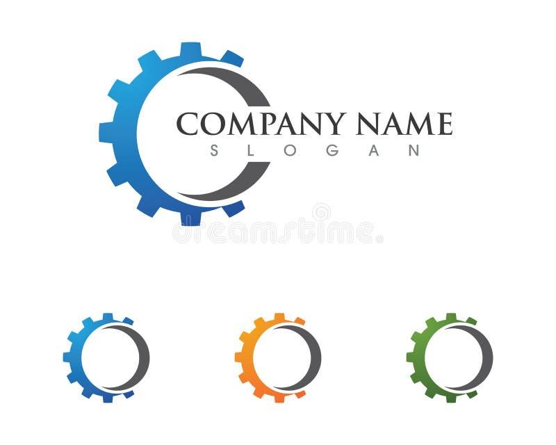 Icono del vector de Logo Template del engranaje stock de ilustración