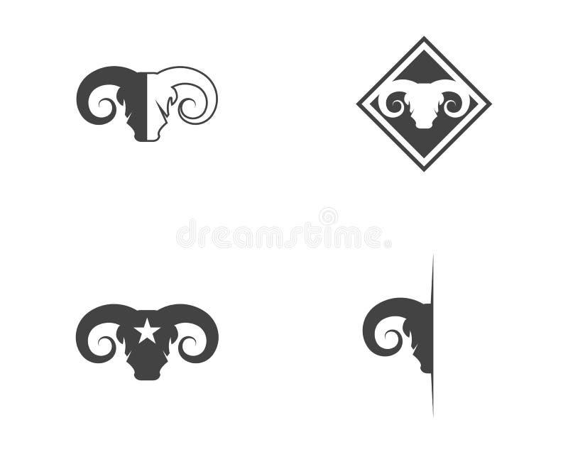 Icono del vector de Logo Template de la cabra libre illustration
