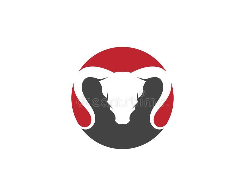 Icono del vector de Logo Template de la cabra ilustración del vector