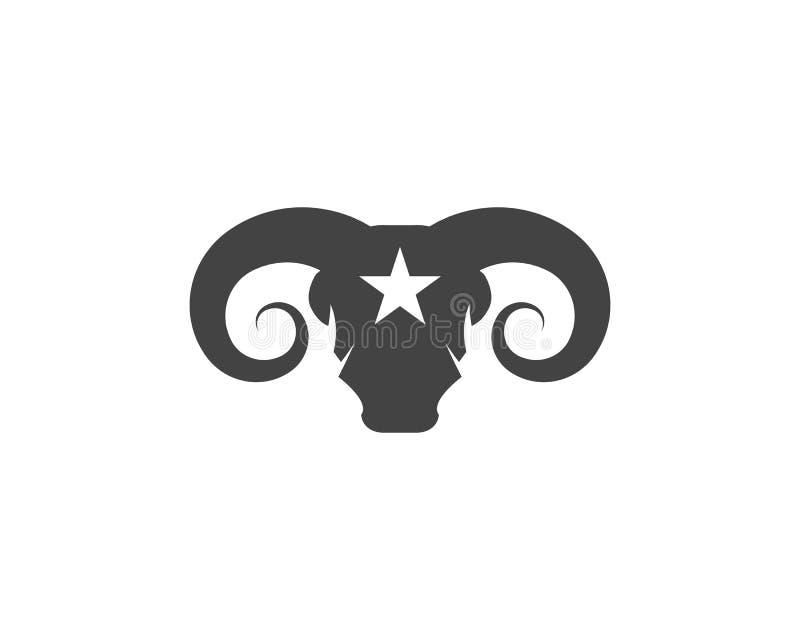 Icono del vector de Logo Template de la cabra stock de ilustración