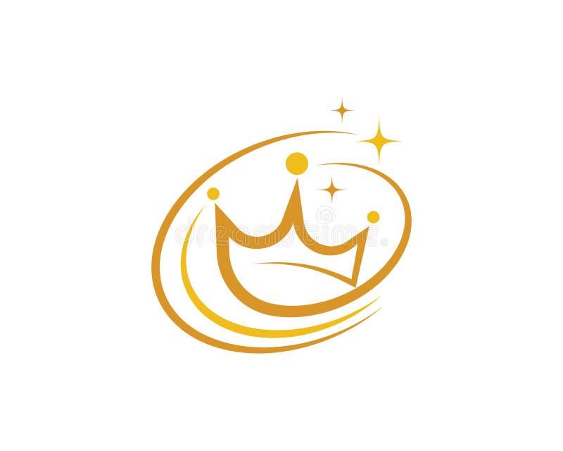 Icono del vector de Logo Template de la corona stock de ilustración