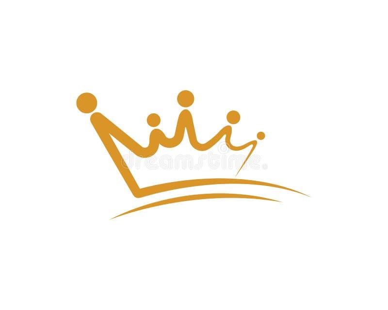 Icono del vector de Logo Template de la corona libre illustration