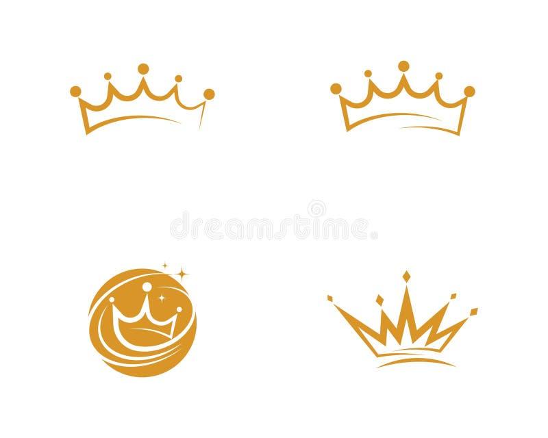 Icono del vector de Logo Template de la corona ilustración del vector