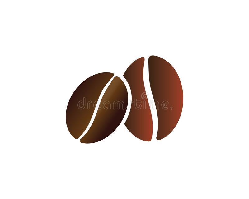 Icono del vector de Logo Template de los granos de café stock de ilustración