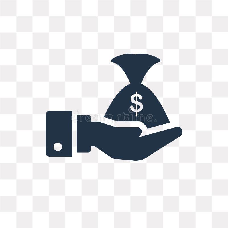 Icono del vector de los ahorros aislado en el fondo transparente, ahorros libre illustration