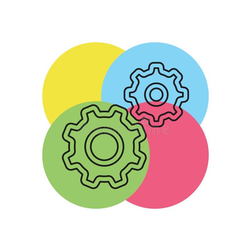 Icono del vector de los ajustes ilustración del vector