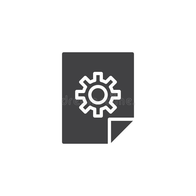 Icono del vector de los ajustes del fichero libre illustration