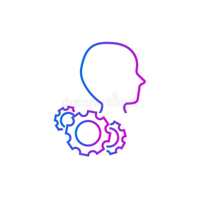 Icono del vector de los ajustes de la cuenta libre illustration