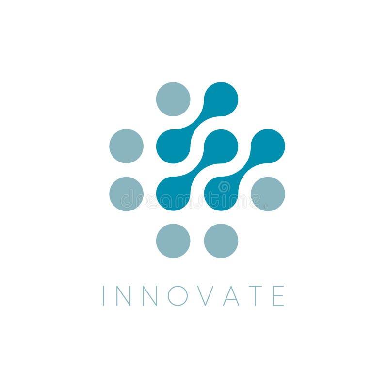 Icono del vector de los círculos Innovador Logo Template Innova el logotipo Puntea símbolo abstracto Ejemplo aislado del vector e stock de ilustración