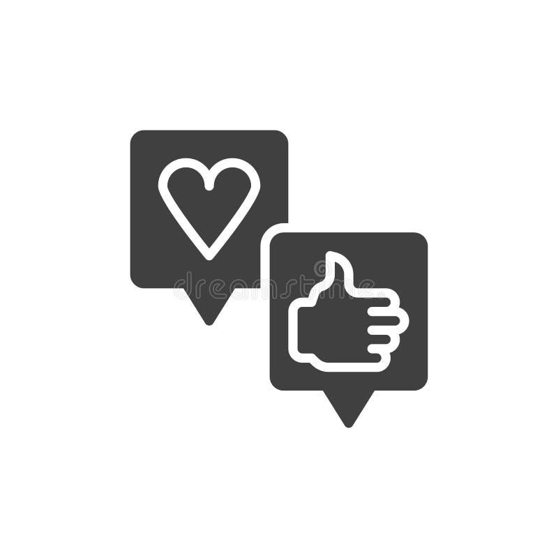 Icono del vector de los comentarios de clientes stock de ilustración
