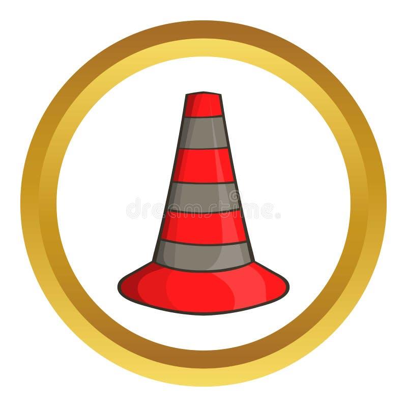 Icono del vector de los conos de la seguridad libre illustration