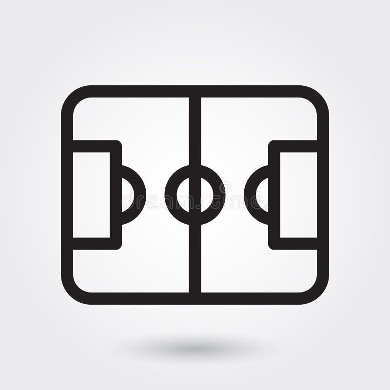 Icono del vector de los deportes de campo de fútbol, icono del campo de deportes, símbolo del campo de fútbol Esquema moderno, si ilustración del vector
