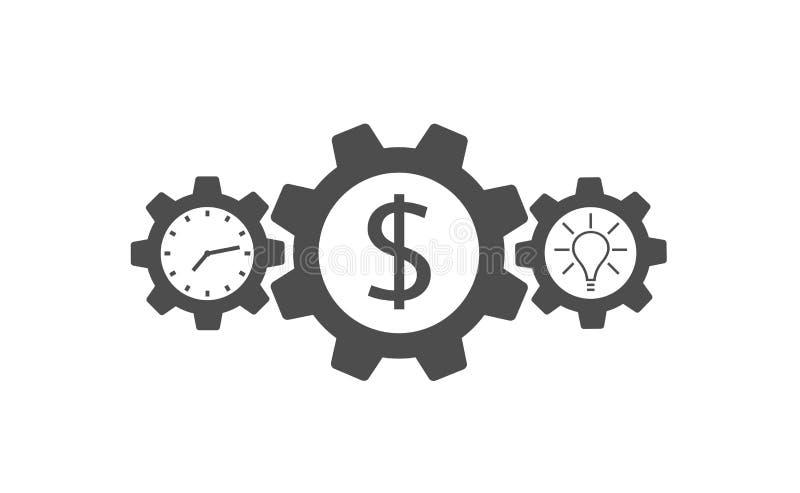 Icono del vector de los engranajes libre illustration