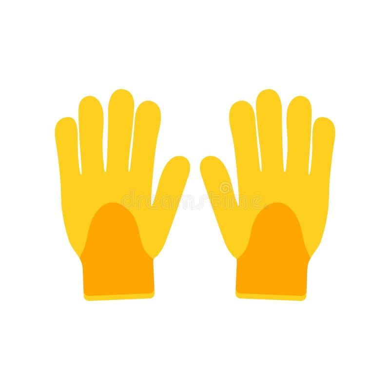 Icono del vector de los guantes que cultiva un huerto aislado en el fondo blanco Utensilio de jardiner?a en estilo de la historie stock de ilustración