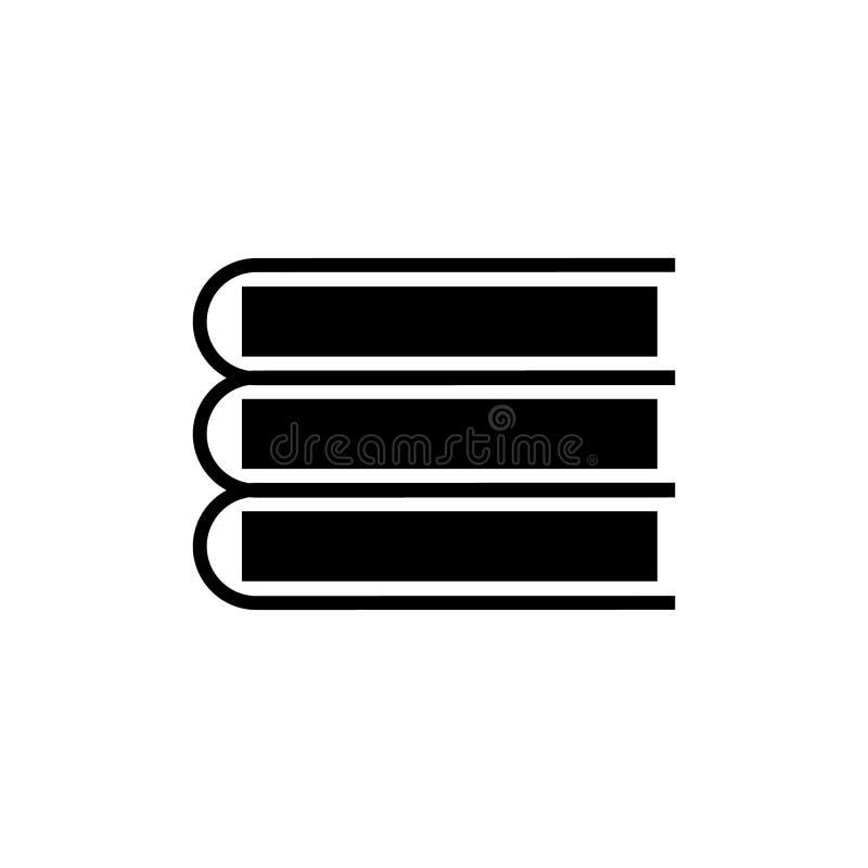 Icono del vector de los libros Ejemplo aislado para el DES del gráfico y del web stock de ilustración