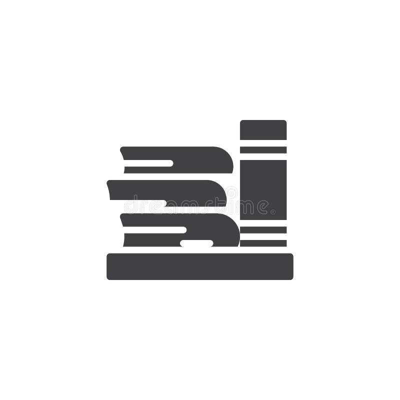 Icono del vector de los libros de la biblioteca libre illustration