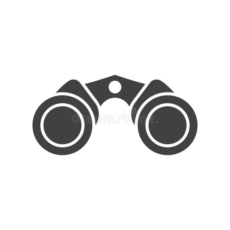 Icono del vector de los prismáticos stock de ilustración