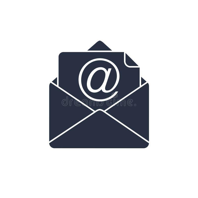 Icono del vector de los símbolos del icono del correo Concepto del márketing del correo electrónico Correo electrónico del concep ilustración del vector