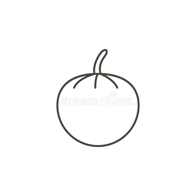 Icono del vector de los tomates Ejemplo simple del elemento del concepto de la comida Icono del vector de los tomates Ejemplo del ilustración del vector