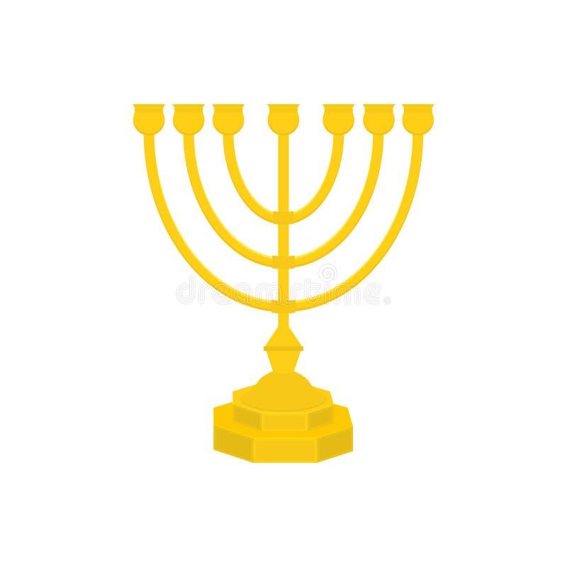 Icono del vector de Menorah Menorah - palmatoria jud?a siete-ramificada tradicional para el dise?o de J?nuca Aislado en blanco libre illustration