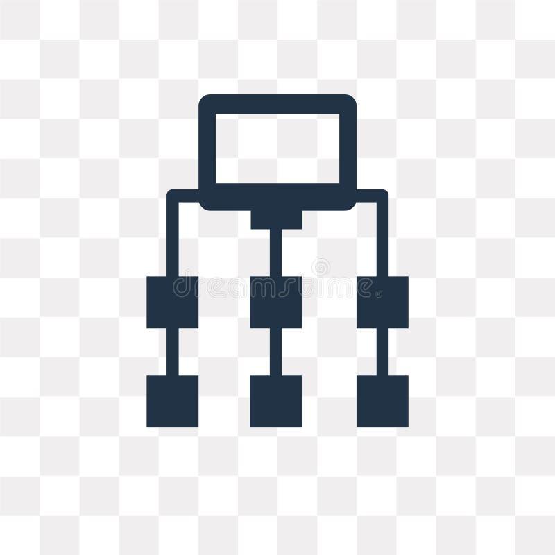 Icono del vector de Sitemap aislado en el fondo transparente, Sitemap libre illustration