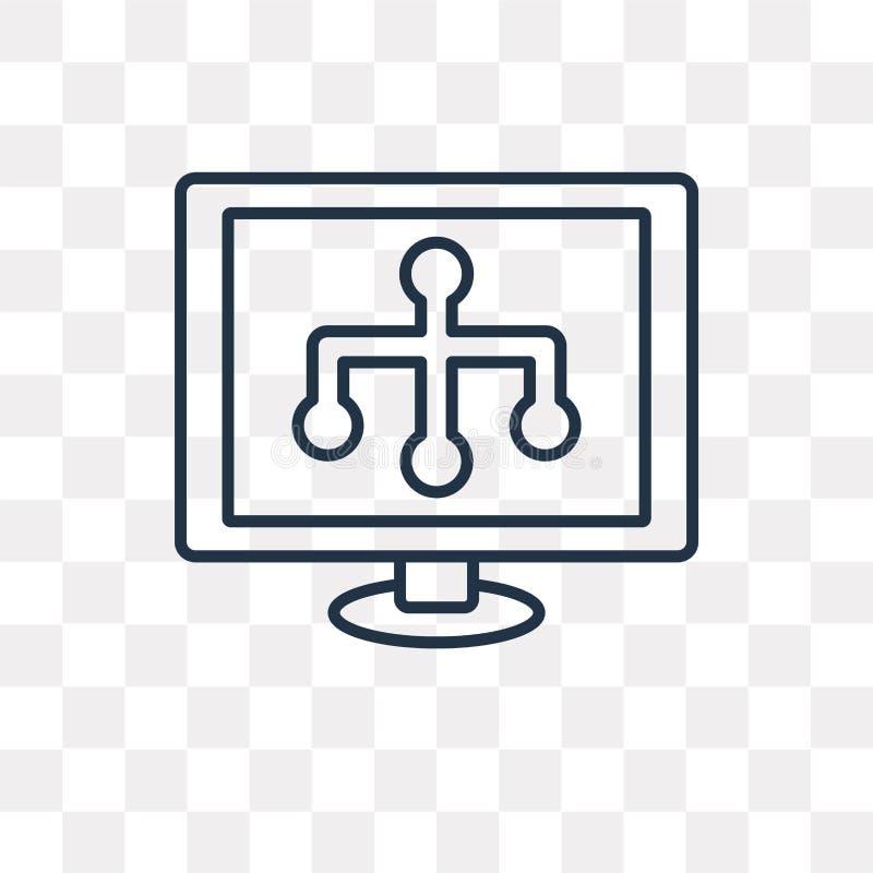 Icono del vector de Sitemap aislado en el fondo transparente, S linear stock de ilustración