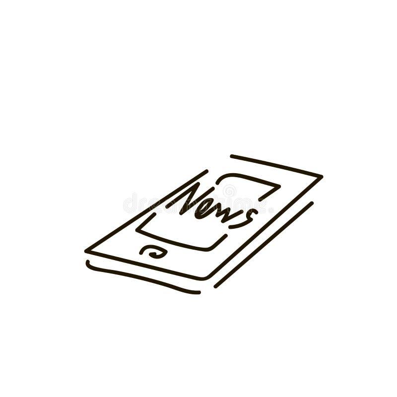 Icono del vector de Smartphone, símbolo del teléfono Diseño simple, plano para la web o app móvil libre illustration