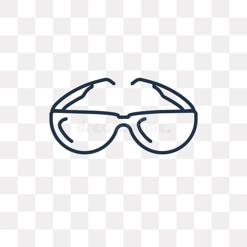 Icono del vector de Sunglasses del piloto aislado en fondo transparente, ilustración del vector