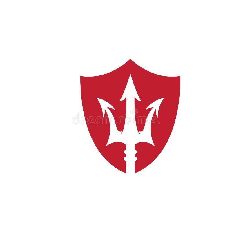 Icono del vector de Trident Logo Template stock de ilustración