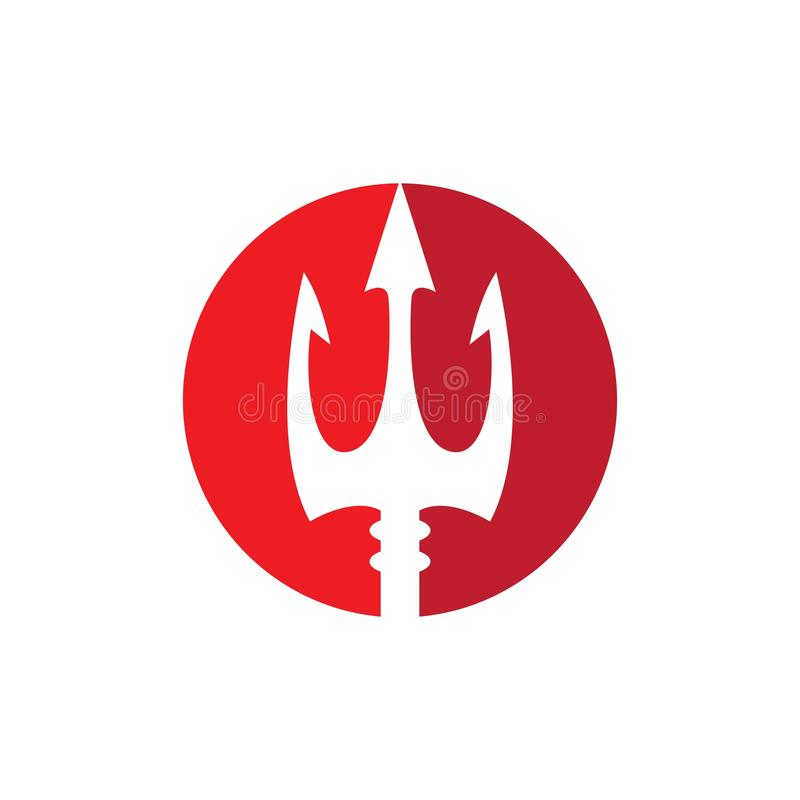 Icono del vector de Trident Logo Template libre illustration