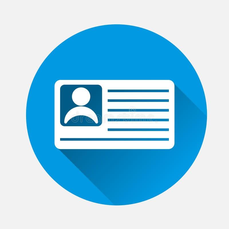 Icono del vector de una tarjeta de la persona Ejemplo del vector de un identific libre illustration