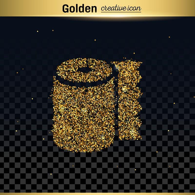 Icono del vector del brillo del oro ilustración del vector