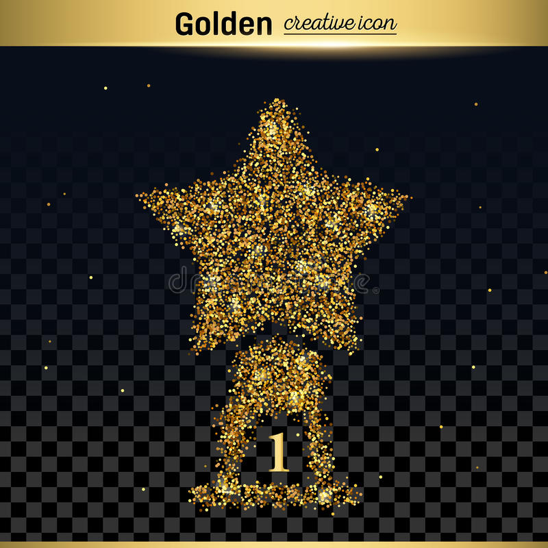 Icono del vector del brillo del oro libre illustration