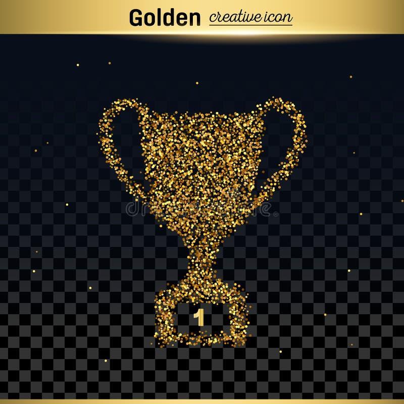 Icono del vector del brillo del oro stock de ilustración