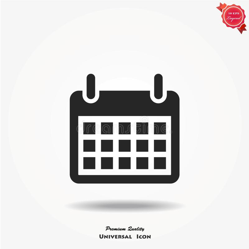 Icono del vector del calendario stock de ilustración